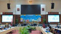 Kepala Perwakilan BI Malang, Azka Subhan saat sosialisasi program QRIS GO 12 Juta Merchant di Hotel Aria Gajayana, Kota Malang, Selasa (2/3/2021). Foto : Azmy