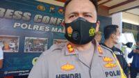 Kapolres Malang AKBP Hendri Umar memberikan keterangan tentang penembakan Gus Idris.