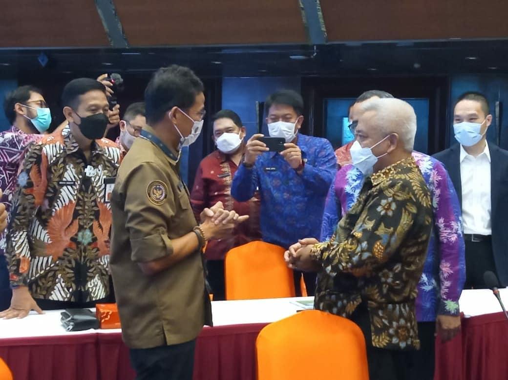 Kunjungan Bupati Malang, Sanusi ke Menteri Pariwisata dan Ekonomi Kreatif, Sandiaga Salahuddin Uno di Kantor Menparekraf pada Rabu lalu (24/03/2021).