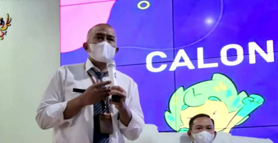 Erik Setyo Santoso, salah satu calon Sekda saat melakoni Uji Publik di di Ngalam Command Center (NCC) Balai Kota Malang, Kamis (8/4/2021). (Foto dok)