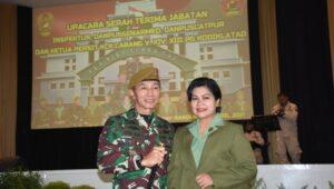 Mayjen Totok Imam saat dilantik menjadi Komandan Pusat Kesenjataan Artileri Medan (Pussenarmed). Foto dok.