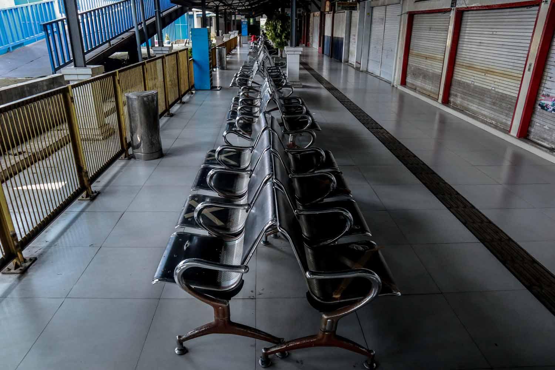 Suasana Terminal Arjosari. Foto Bayu Eka.