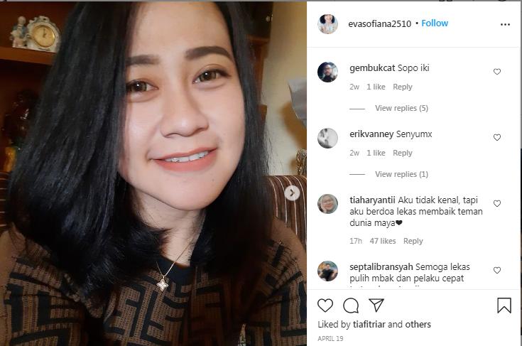 Medsos Instagram Eva Sofiana.