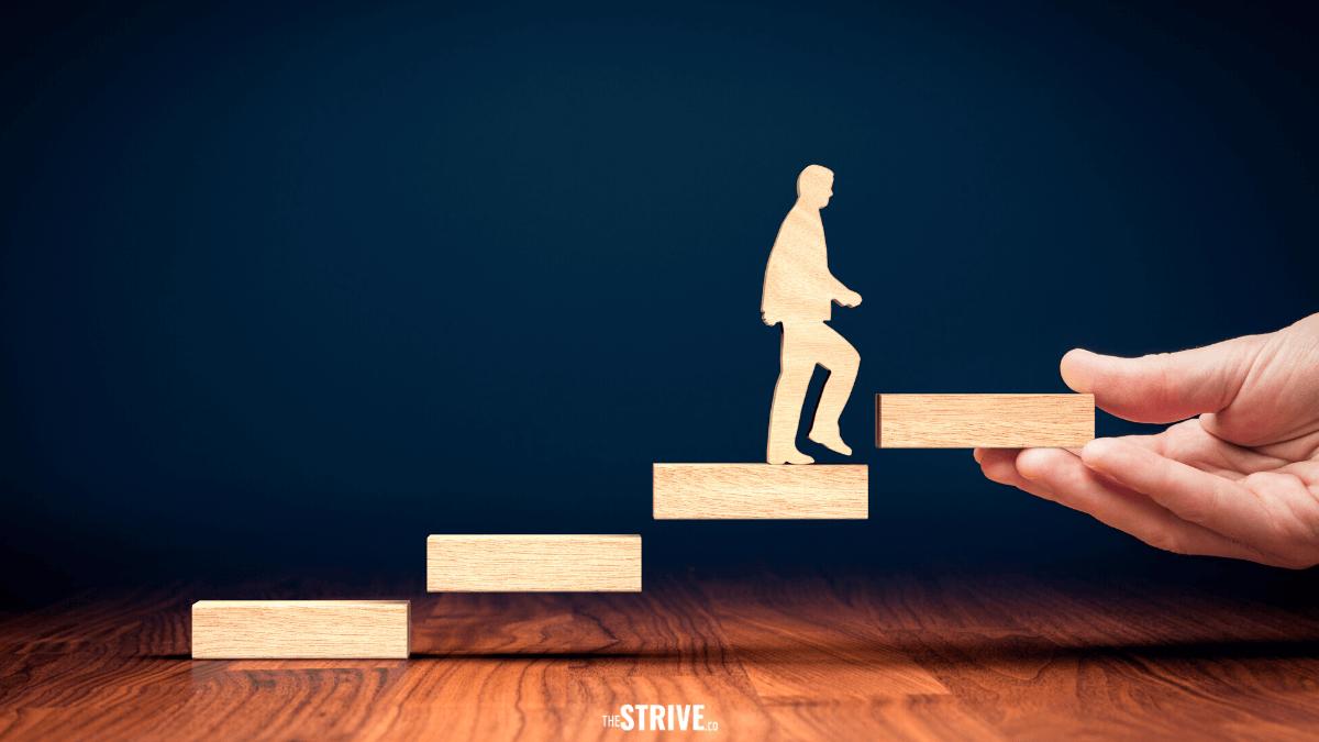 Ilustrasi self improvement dari Strive.