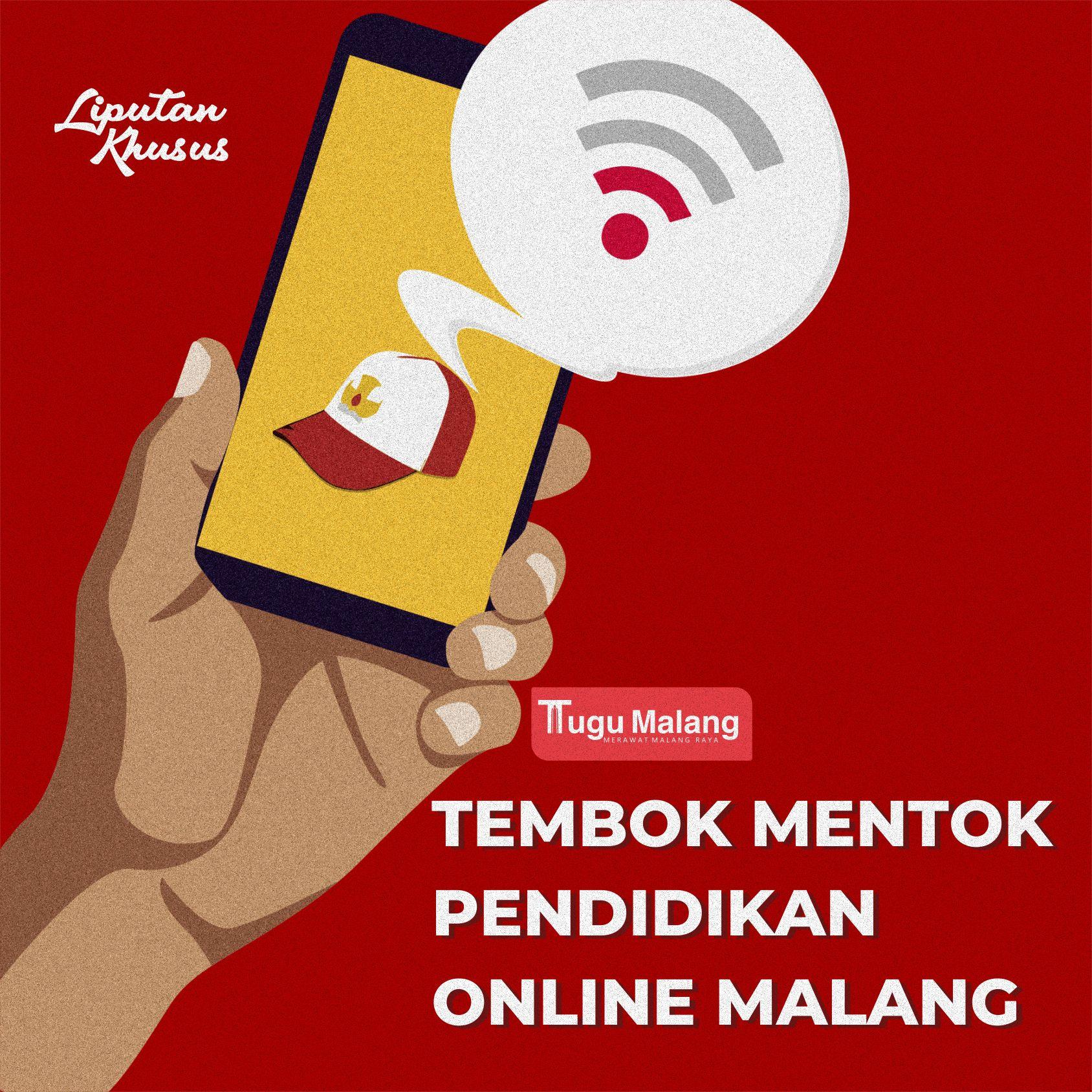 Ilustrasi pembelajaran online. Dicky/Tugu Malang.