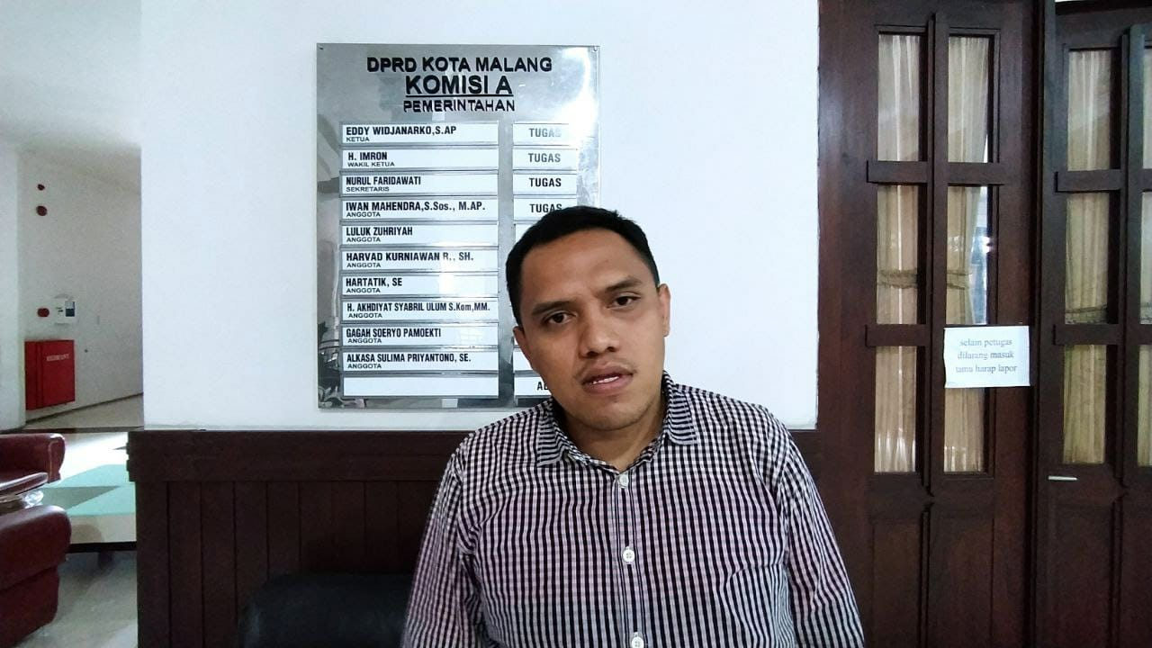 Anggota Komisi A DPRD Kota Malang, Harvard Kurniawan Ramadhan. Foto/Azmy.